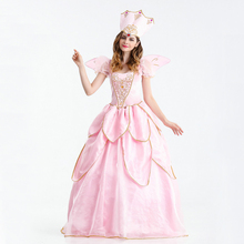 Free shipping Fairy godmother pink dress European retro court costume fairy tale theme stage performance princess
