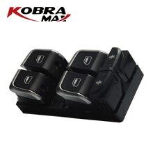 Botão Interruptor de Controle Mestre 4GD959851B KobraMax Chrome Motorista Eletrônico Se Encaixa Para AUDI A6 S6 C7 A7 Q3 Acessórios Do Carro