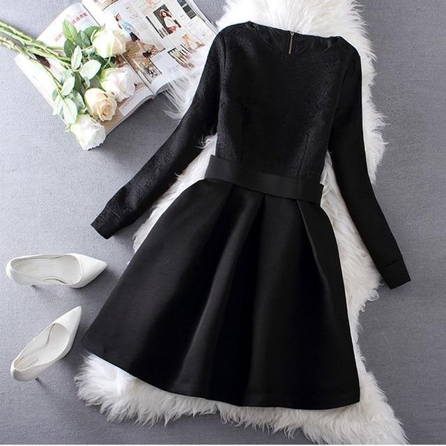 f9bec7146880 Women Winter Dress Plus Size Clothing Nice New Autumn Jacquard Slim ...
