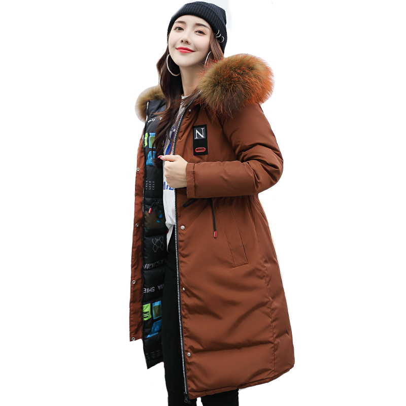 High Quality 2019 New Womens Winter Jacket Both Two Size Can Be Wore Fashion Female Coat Coats Long   Parka   Outwear Warm Thicken