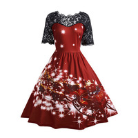 Christmas Novelty Simple Handmade 1950s Latest Women S Hot Usable High Quality Dress Beauty Best