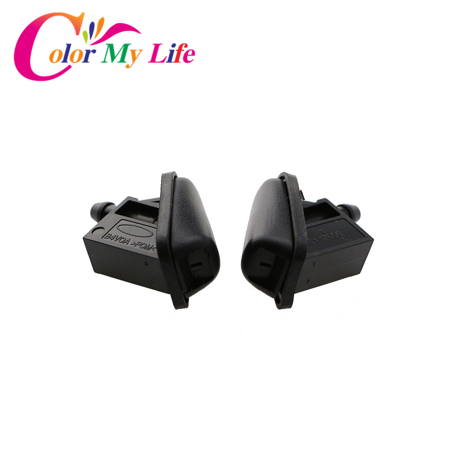 Color My Life Car ABS Fan Shaped Water Spray For Ford Focus 2 3 4 Sprinkler Head Refires Special Wiper Spray Jet Washer