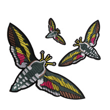GUGUTREE embroidery big bee patches,iron on patch,bee patches badges,bee applique,patches for clothing JW-124
