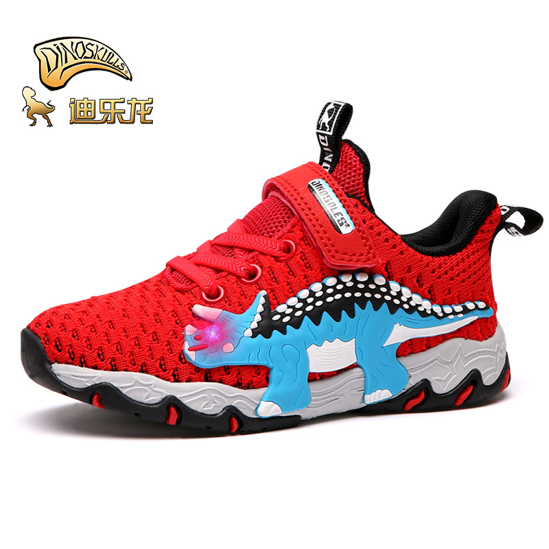 Kids Boys Girls Colorful dinosaur animal Breathable Mesh Sneakers Cute Casual Running Shoes