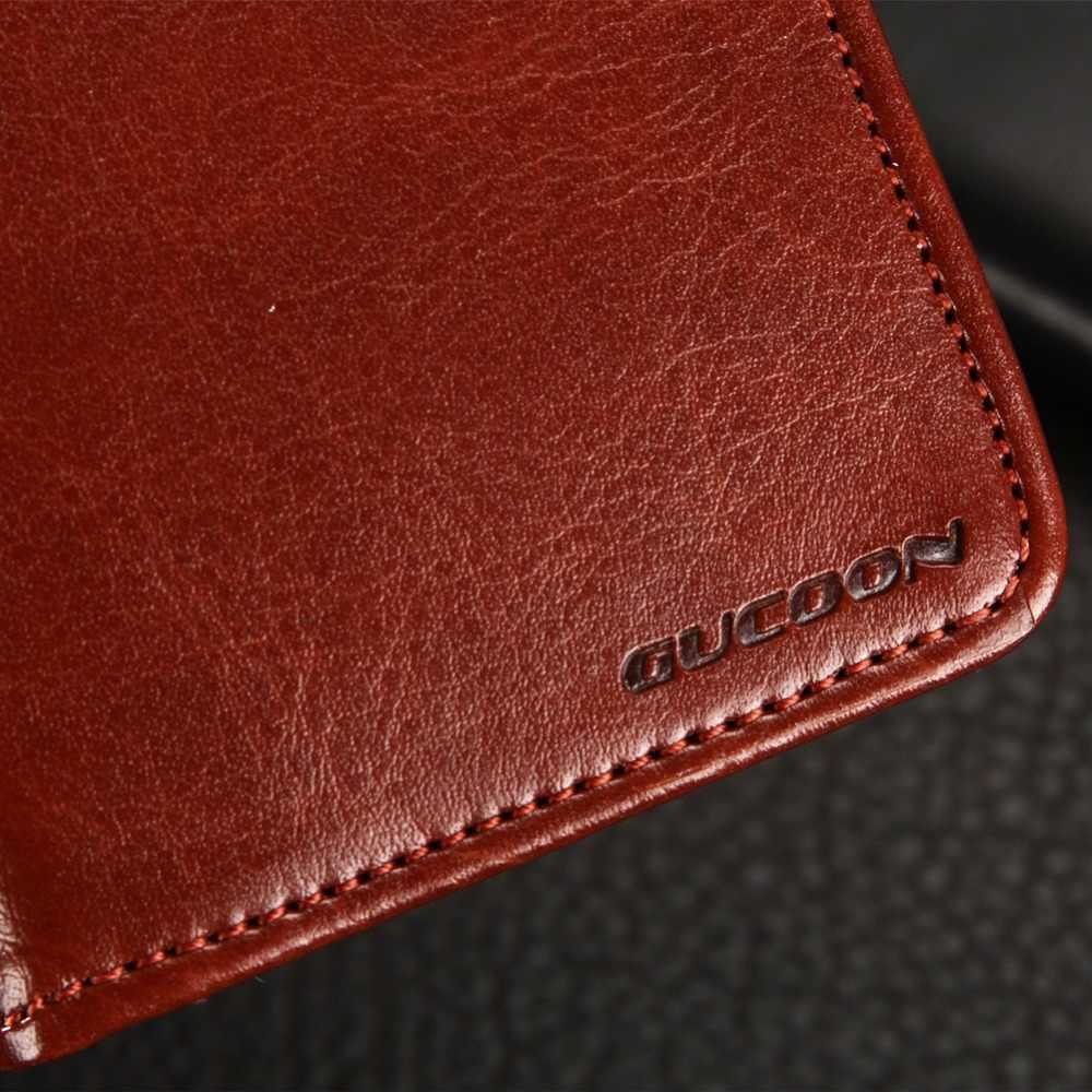 GUCOON klasyczny portfel etui do Vertex Impress Tor Cube pokrywa PU skóra w stylu Vintage etui z klapką moda telefon torba tarcza