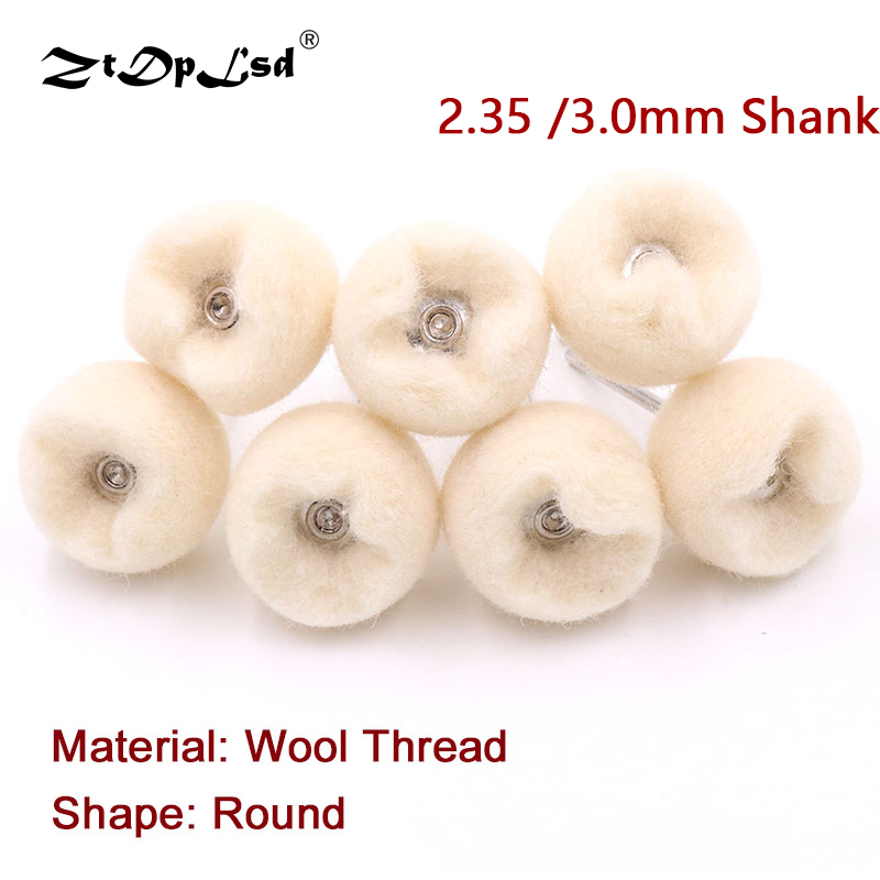 10Pcs Wool Polishing Brush Grinding Buffing Wheel Grinder Brushes For Drill Rotary Tool Mini Soft Jadeite Jade Carving Cleaning