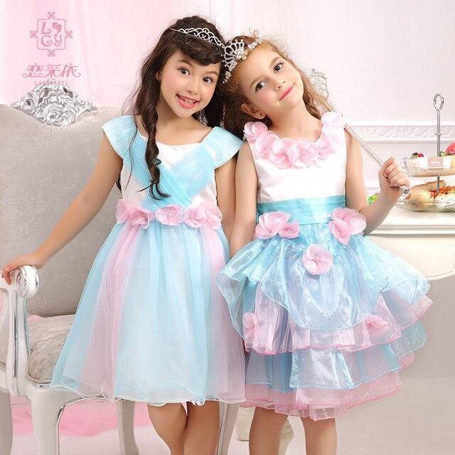 Flower Kids Costumes Dresses Girls Western Frocks Baby Birthday ...