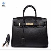Bolsa 100% Guarantee First Layer Cow Leather Bag with Long Shoulder Strap Women's Genuine Leather Handbag Ladies Messenger Bag