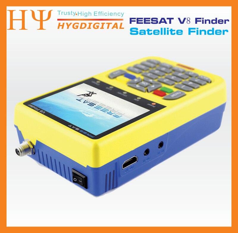 10pcs Freesat V8 Finder DVB-S2 Satellite Meter Satellite Finde Support 1080P HD Freesat Finder V8 With 3.5 inch LCD Display digital tv satellite receiver freesat v8 super dvb tuner support newcamd cccamd ccam dvb s2 hd fta freesat v8 receiver usb wifi