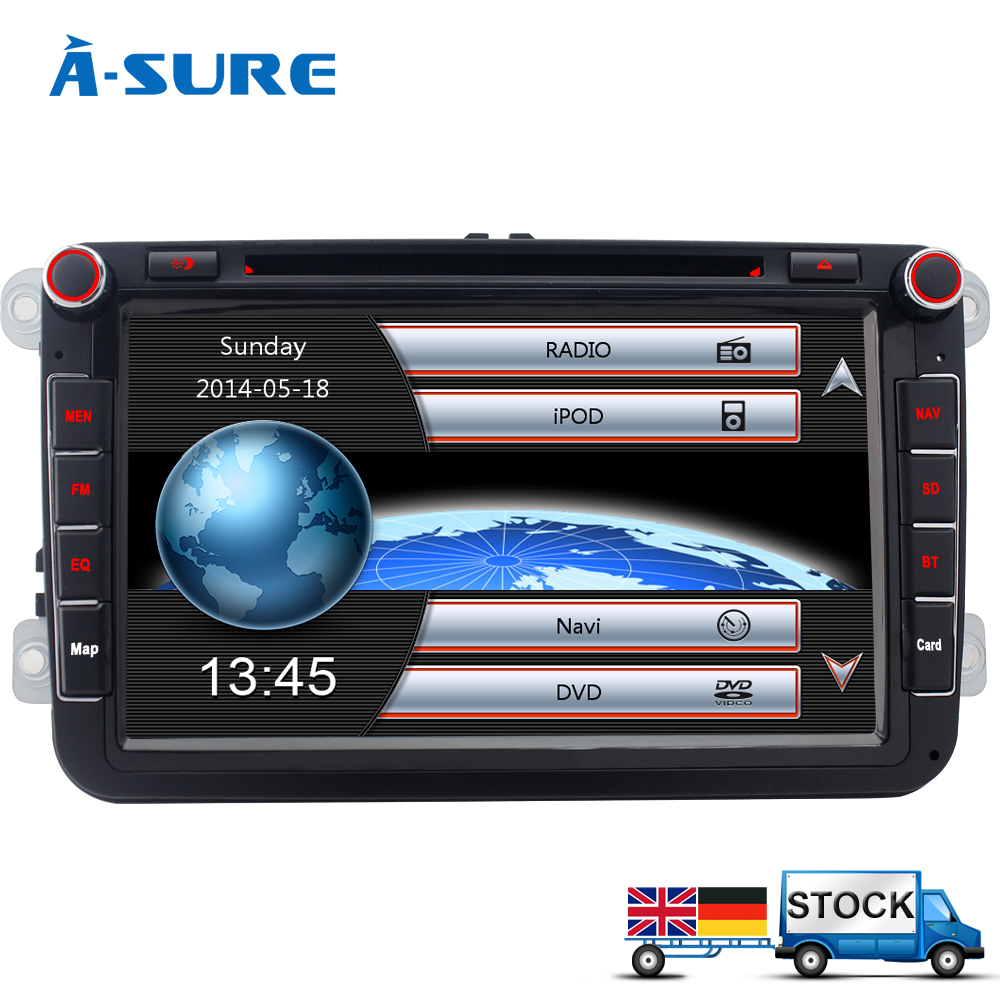 a sure 8 radio gps dvd for vw passat b6 sharan golf 5 mk6. Black Bedroom Furniture Sets. Home Design Ideas