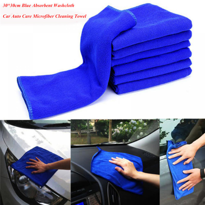 10pcs 30*30cm Microfiber Car Cleaning Towel Household Kitchen Dinning Cleaning