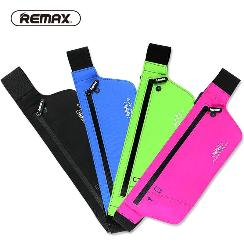 REMAX Sport Mobile Phone Waist Pouch Running Belt Waist Pouch Unisex Gym phone zipper Waterproof Fiber Pouch Professional