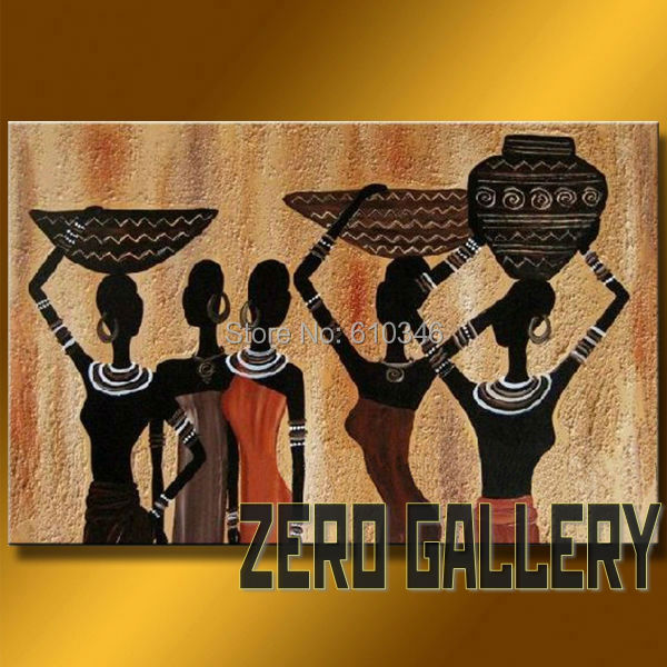 High Quality High Grade Handicraft African Wall Art Nude Lady Women Oil Hotel Office  Decoration Discount Cheap Modern