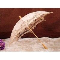 ホワイトベージュレースサンシェード手作り傘レトロレース傘パラソル用太陽用結婚式装飾写真撮