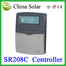 Solar hot water and heating system controller SR208C, Solar temperature control