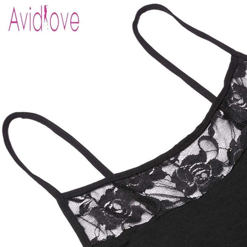 Avidlove Women Sexy Lace Nightgown Cotton Nightdress Stretch Mini Dress Sleepwear Sexy Lingerie Plus Size Nightwear for Women 4