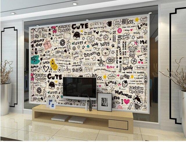 Cartoon Englisch Linie Bar Restaurant Hintergrund Wallpaper Grosse Wandbilder Fernseher Im Wohnzimmer Sofa Wand Schlafzimmer