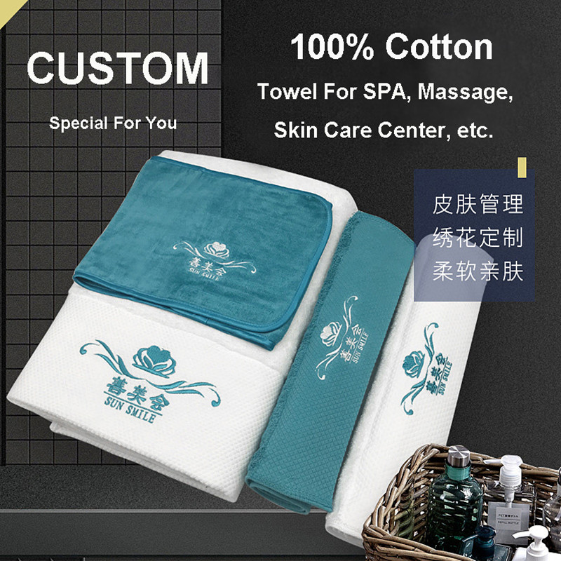 LeRadore Custom Soft Towel For Hotel Motel SPA Skin Care Center Massage 1 Dollar Links For Our Customer For Customized Products