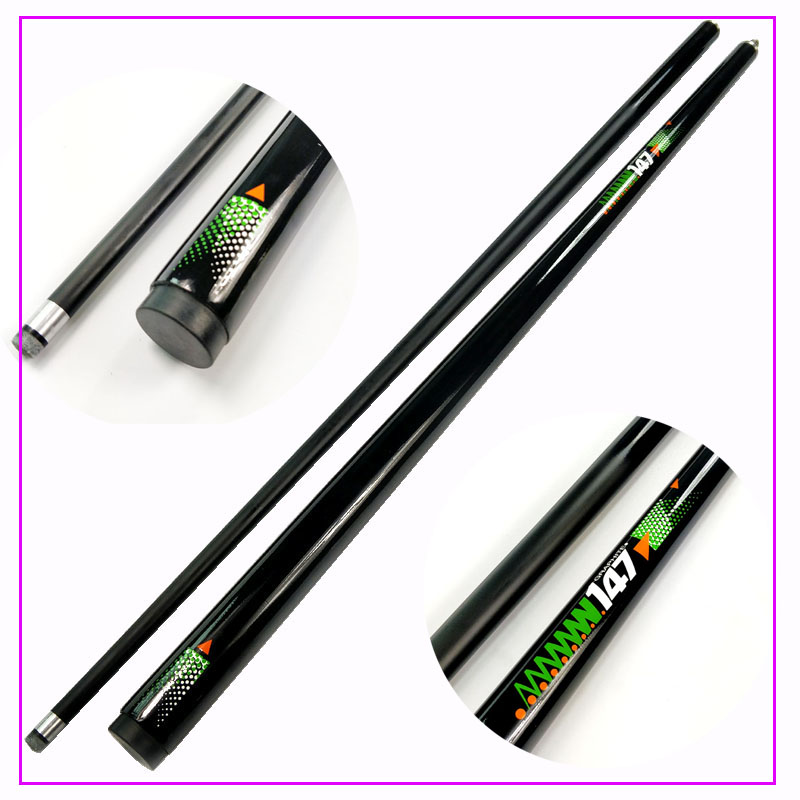 2018 New Design Black Color Carbon Snooker Ball Arm 9 8MM Pool Snooker Cue Stick Free