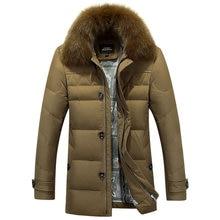 2017 New Winter Coats Parkas Jacket Men Hooded Long Thick Warm Windproof Fur Collar Men's Down Jacket Parkas Outwear Male Thick