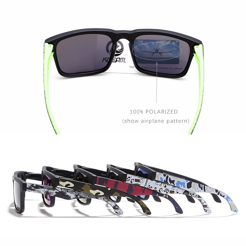 0b43f723ef6b2 KDEAM Eye catching Função Polarizada Óculos De Sol Para Homens Preto Fosco  Quadro Fit. Pintura Templos Play Cool Óculos de Sol Com Caso em Óculos de  sol de ...