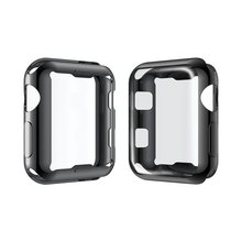 For Apple Watch Case 38mm 42mm Sequence three 2 1 Glass Full Cowl 3D Curved Edge Display Protector Movie For iWatch Plating Tempered