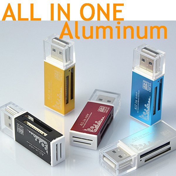 smart  All in one card reader /Multi in 1 card reader SD/SDHC,MMC/RS MMC,TF/MicroSD,MS/MS PRO/MS DUO,M2 card reader Wholesale cbr human friends speed rate glam all in one micro ms m2 sd t flash ms duo mmc sdhc dv ms pro ms ms pro duo usb 2 0