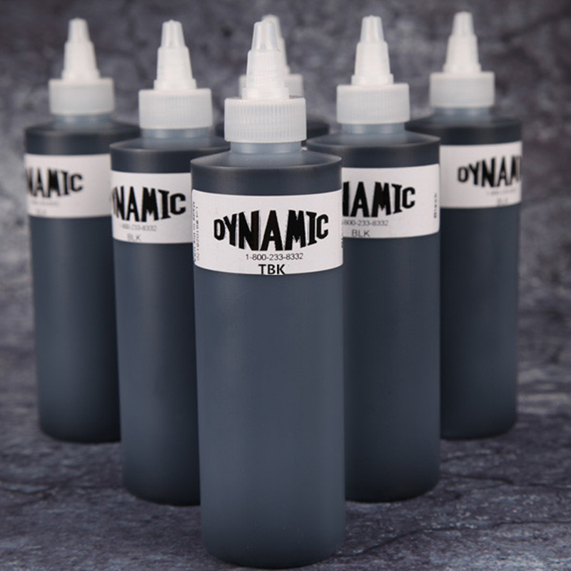 1 Bottle Black Dynamic Tattoo Ink 250ml Permanent Makeup Micropigment Ink Tatuagen For Body Art Tattoo Painting Cosmetics