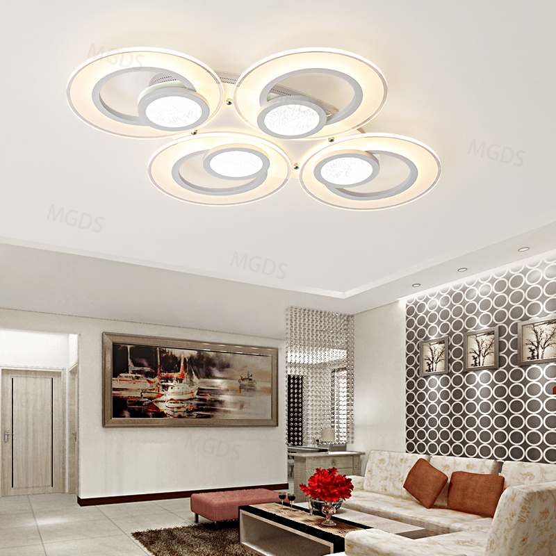 Modern LED Ceiling lights for lampada led living room bedroom study acrylic shade led strip indoor lighting ceiling lamp modern led acrylic ceiling lights for parlor lampada led hotel hall led strip acrylic led strip indoor lighting luz de techo