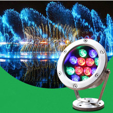 6W-24W Pond Landscape Lamp 24V Colorful Fountain Swimming Pool LED Underwater Light Waterproof