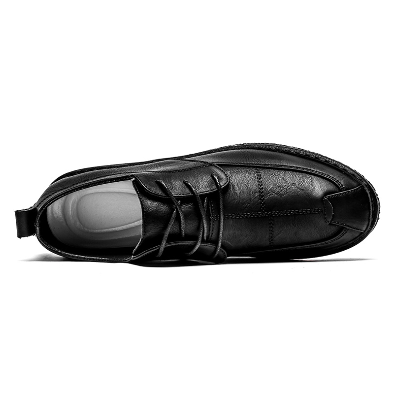 D'affaires De Hommes Confortable Simple En Printemps Casual gray Noir brown Cuir Homme Automne Chaussures Black Split Brun Mâle xXPWqI