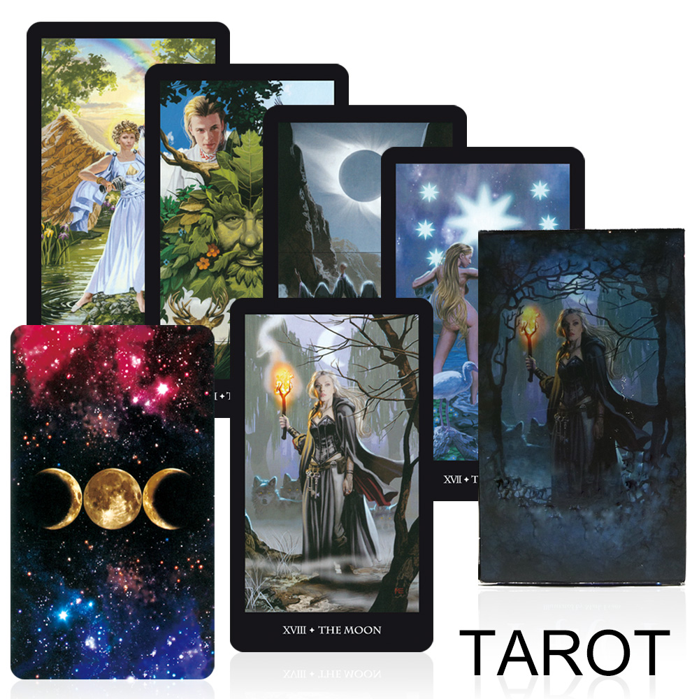 2019 Witches Tarot Cards Deck Board Game Factory Made High Quality Read The Fate Mythic Divination Card Games