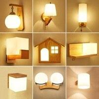 Criativo Nordic Simples Luz de Parede de Cabeceira Do Quarto de Madeira Designer Lliving Quarto de Hotel Parede Lâmpadas Corredor Iluminação Holtel