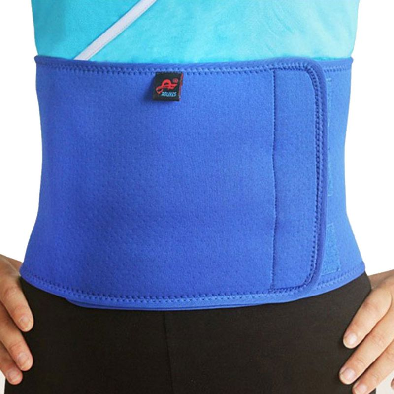 все цены на Adjustable Slimming Belt Women Men Sports Waist Support Neoprene Safety Gym Belt Back Protector
