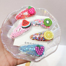 купить Shiny Ball Cartoon Fruit Hair Clips For Women Flower Bow  Hair Accessories BB Clip Hairpins Barrettes Hairgrips for Girls по цене 123.75 рублей