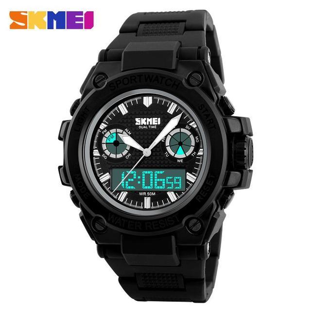 New SportS Electronic Digital Analog Silicone Watch Waterproof Fashion Wristwatches Mens relogio masculino reloj hombre LED