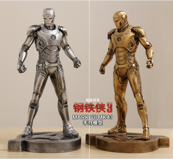 SAINTGI Iron Man 3 MARK43 metal Action Figure Gold Edition The Avengers Anime Marvel MK42 Toy Classic Collection 29cm gift nokia 6700 classic gold edition