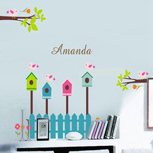 Fence tree children in kindergarten background decoration The third generation of wall stickers(China)
