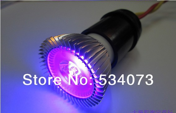 3w high power led uv money detector light bulb uv shadowless glue curing violet light shining