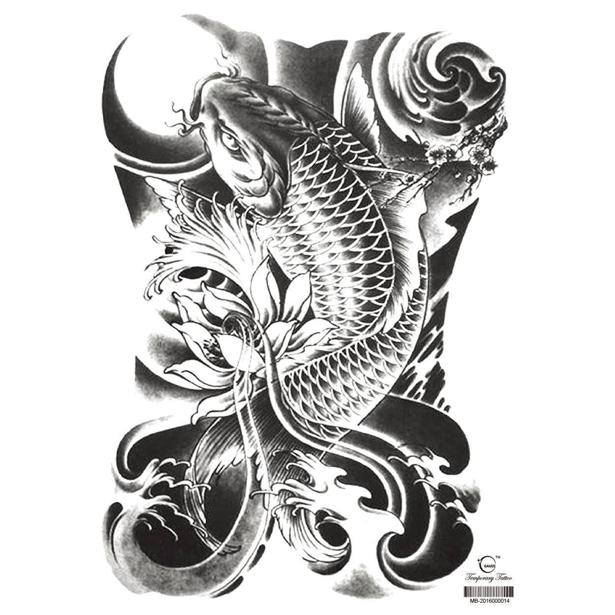 The new large full back tattoo sticker waterproof men and women can be customized 70 options