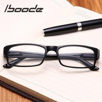 Iboode, gafas de lectura ultraligeras, gafas presbiópicas, gafas de lectura, gafas de marco completo + 1,0 + 1,25 + 1,5 + 1,75 + 2,0 4,0 portátil