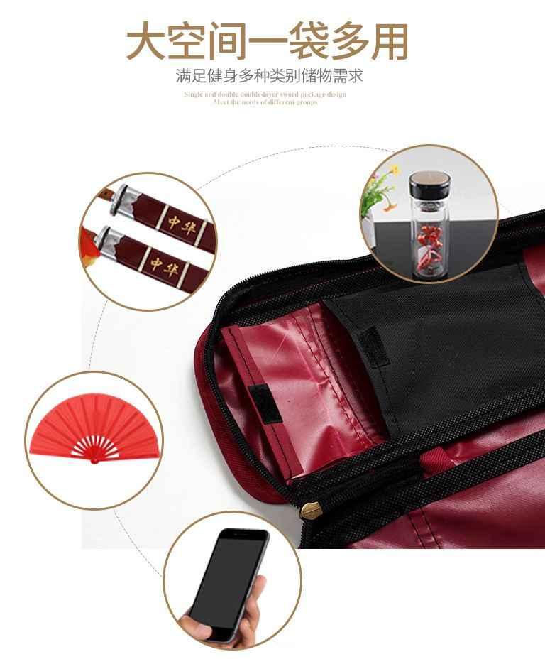 Nieuwe Thicken canvas een-layer knifepackage tai chi kung fu tas vechtsporten zwaard zakken