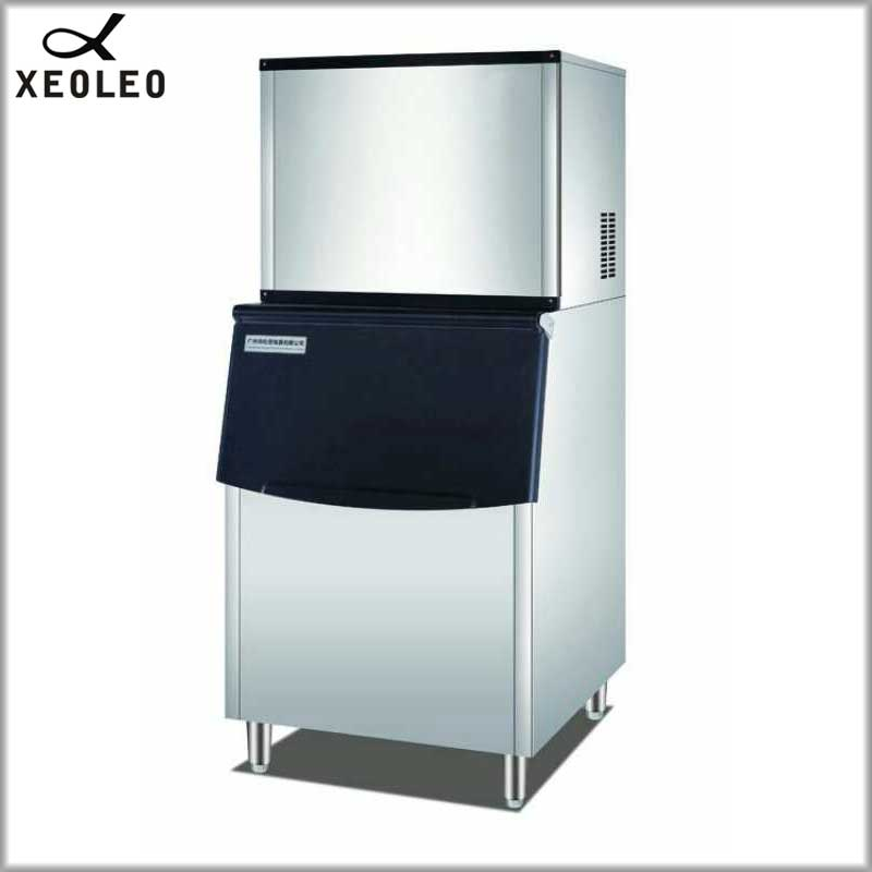XEOLEO 330LB Commercial Ice maker Cube Ice machine Air-cool Square Ice make machine for coffee/milk tea shop 1200W 80kg storage