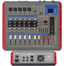 Pro 7 Channel Power Digital Mixer 1200 Watts 2 in 1 Function Amplifier + Microphone Mixing Console with USB DSP Bluetooth
