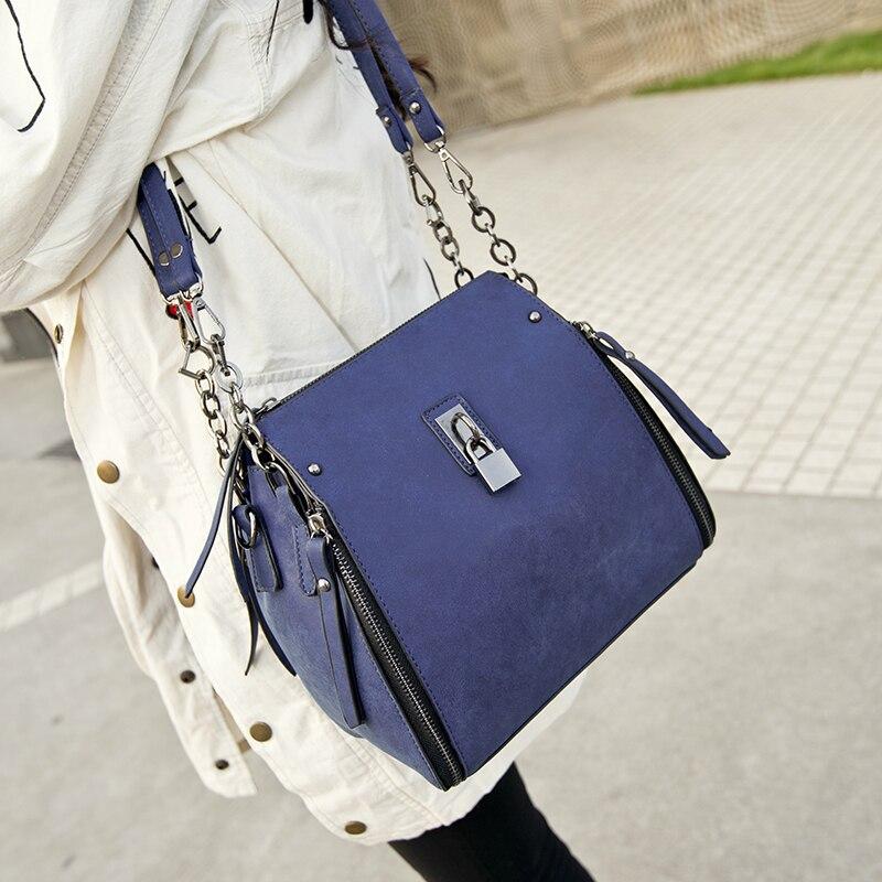 MIWIND mujeres bolso de la manera de moda femenina de la vendimia de un hombro c