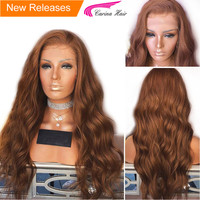 Carina Brazilian Body Wave Lace Front Wigs with Baby Hair Remy Human Hair Lace Wigs Pre plucked Hairline 30# Color Glueless Wigs