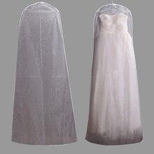 5a21fc0d0 Transparente de doble lados de malla para mujer ropa bolsa de  almacenamiento Protector cubre a prueba de polvo para boda Vestido.