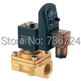 1/2PU Series Brass 2way Solenoid Valve /24 volt electric water superior solenoid valve 1 2bspt 2position 2way nc hi temp brass steam solenoid valve ptfe pilot