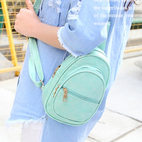 Candy Color Brand Large Capacity Multifunction Leather Women S Chest Bag Pack Crossbody One Shoulder Bag