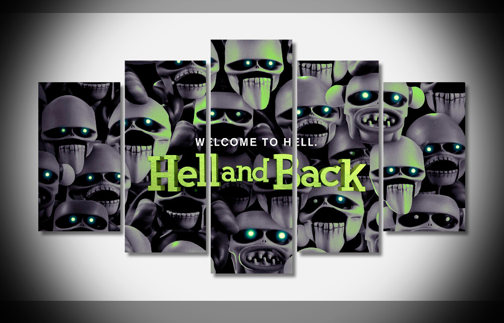 6942 Hell And Back 2015 Movie Animated WallpapersByte poster Framed Gallery wrap art print home wall decor wall picture Already